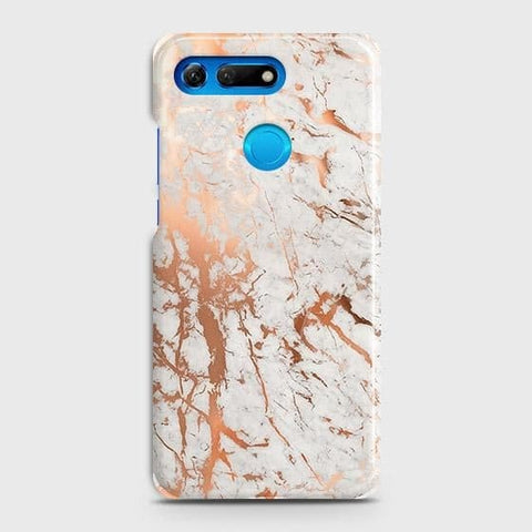 Huawei Honor View 20 Cover - In Chic Rose Gold Chrome Style Printed Hard Case with Life Time Colors Guarantee