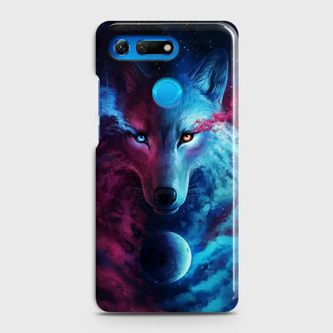 Huawei Honor View 20 Cover - Infinity Wolf Trendy Printed Hard Case with Life Time Colors Guarantee
