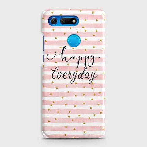 Huawei Honor View 20 Cover - Trendy Happy Everyday Printed Hard Case with Life Time Colors Guarantee