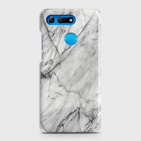 Huawei Honor View 20 Cover - Trendy White Floor Marble Printed Hard Case with Life Time Colors Guarantee