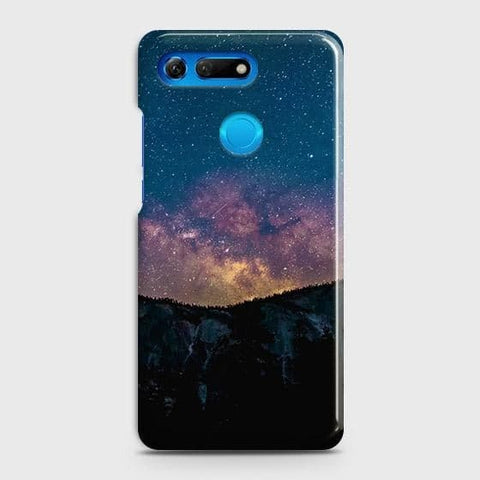 Huawei Honor View 20 Cover - Embrace Dark Galaxy  Trendy Printed Hard Case with Life Time Colors Guarantee