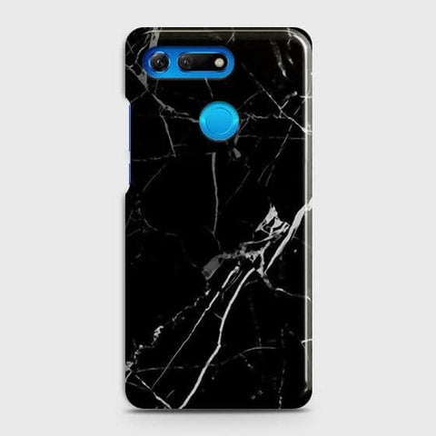Huawei Honor View 20 Cover - Black Modern Classic Marble Printed Hard Case with Life Time Colors Guarantee