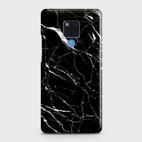 Trendy Black Marble Snap On Case For Huawei Mate 20