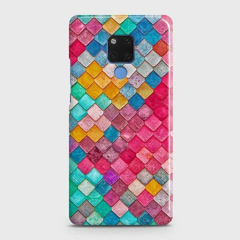 Chic Colorful Mermaid 3D Snap On Case For Huawei Mate 20
