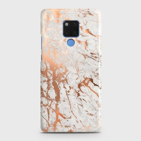 3D Print in Chic Rose Gold Chrome Style Snap On Case For Huawei Mate 20