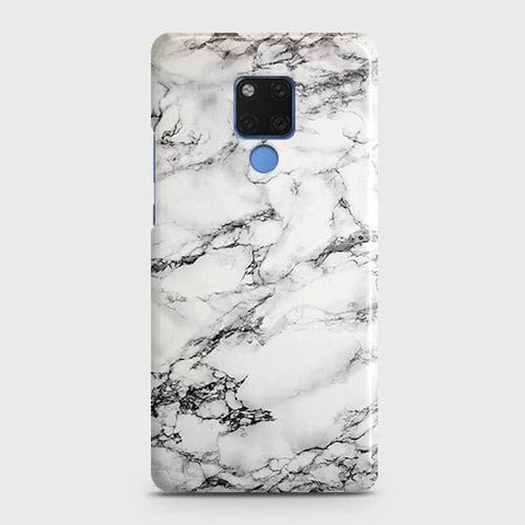 Trendy White Floor Marble Snap On Case For Huawei Mate 20