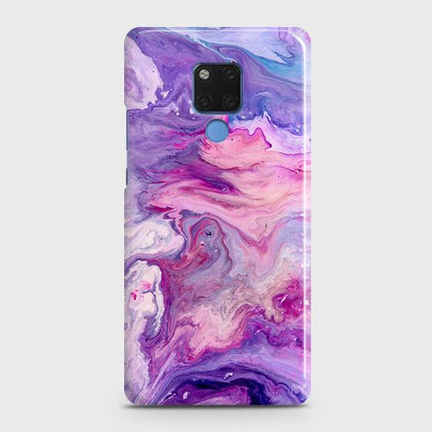 3D Chic Blue Liquid Marble Snap On Case For Huawei Mate 20