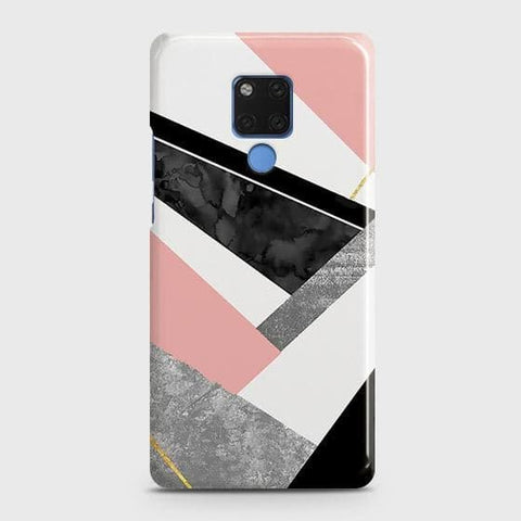 Geometric Luxe Marble Trendy Snap On Case For Huawei Mate 20