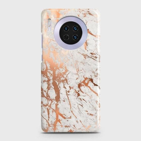 Huawei Mate 30 Cover - In Chic Rose Gold Chrome Style Printed Hard Case with Life Time Colors Guarantee