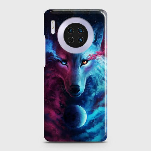 Huawei Mate 30 Cover - Infinity Wolf Trendy Printed Hard Case with Life Time Colors Guarantee