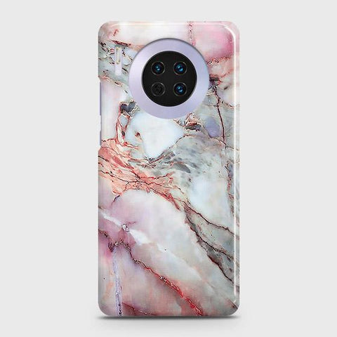 Huawei Mate 30 Cover - Violet Sky Marble Trendy Printed Hard Case with Life Time Colors Guarantee