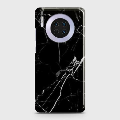 Huawei Mate 30Cover - Black Modern Classic Marble Printed Hard Case with Life Time Colors Guarantee