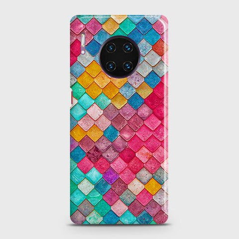 Chic Colorful Mermaid 3D Snap On Case For Huawei Mate 30 Pro