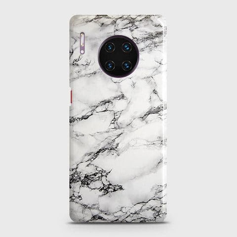 Trendy White Floor Marble Snap On Case For Huawei Mate 30 Pro