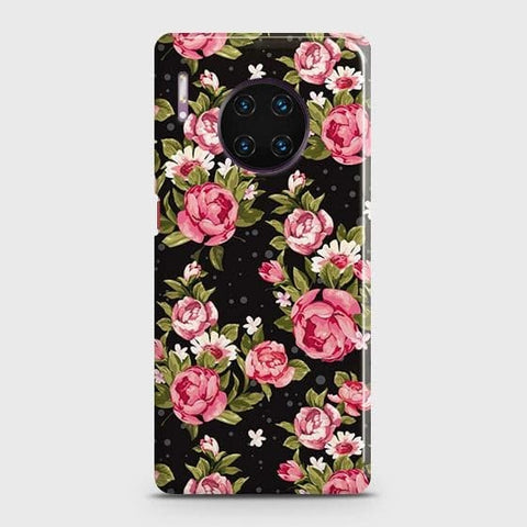 Trendy Pink Rose Vintage Flowers Snap On Case For Huawei Mate 30 Pro