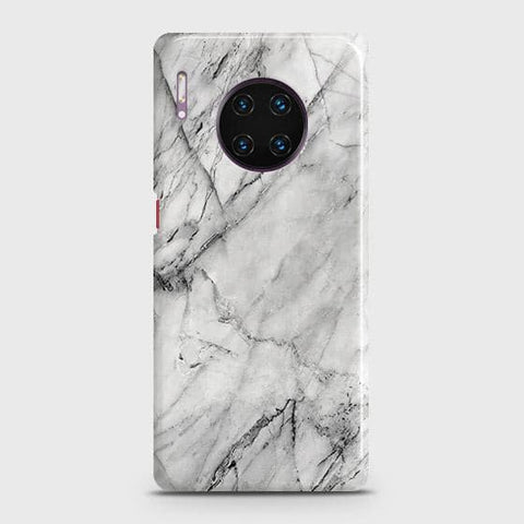 Trendy White Marble Snap On Case For Huawei Mate 30 Pro