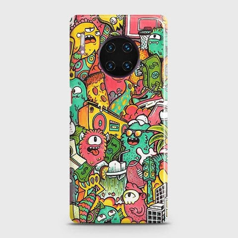 Candy Colors Trendy Sticker Bomb Snap On Case For Huawei Mate 30 Pro