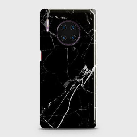 Black Modern Classic Marble Snap On Case For Huawei Mate 30 Pro