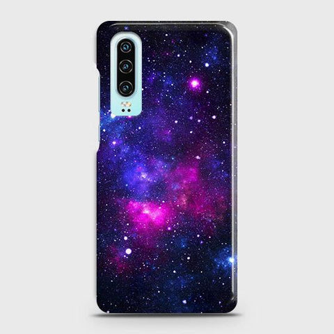 Huawei P30 Cover - Dark Galaxy Stars Modern Printed Hard Case with Life Time Colors Guarantee