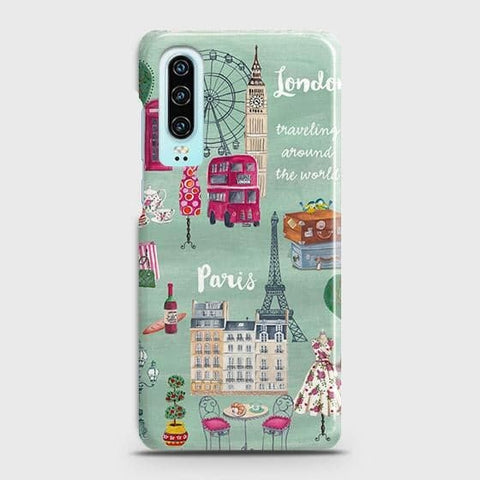 London, Paris, New York Modern Case For Huawei P30
