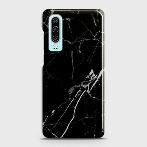 Black Modern Classic Marble Case For Huawei P30