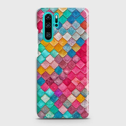 Huawei P30 ProCover - Chic Colorful Mermaid Printed Hard Case with Life Time Colors Guarantee