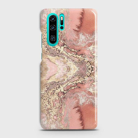 Trendy Chic Rose Gold Marble 3D Case For Huawei P30 Pro