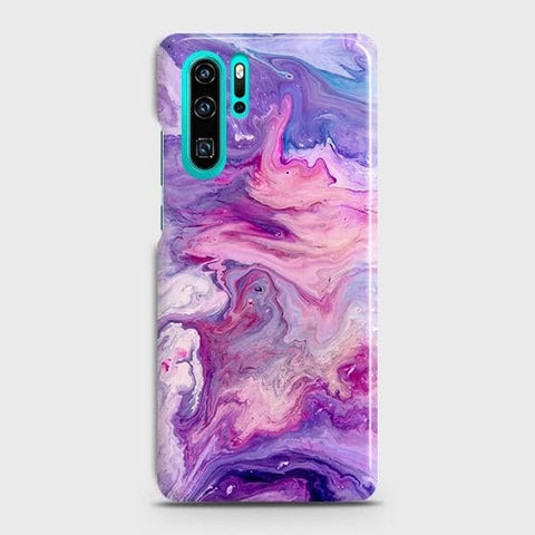 3D Chic Blue Liquid Marble Case For Huawei P30 Pro