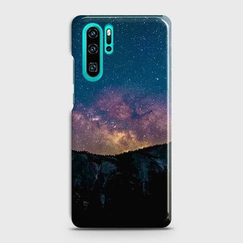 Huawei P30 Pro Cover - Embrace Dark Galaxy  Trendy Printed Hard Case with Life Time Colors Guarantee