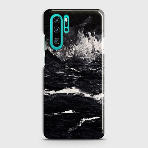 3D Black Ocean Marble Trendy Case For Huawei P30 Pro