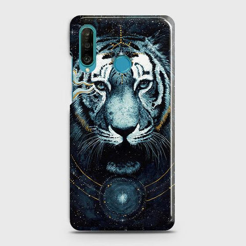 Vintage Galaxy 3D Tiger Case For Huawei P30 lite