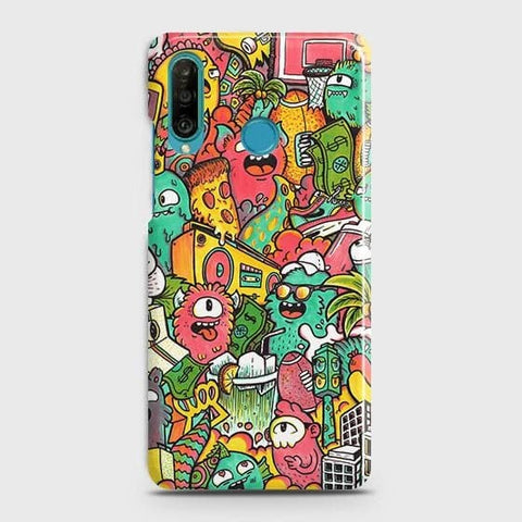 Candy Colors Trendy Sticker Bomb Case For Huawei P30 lite