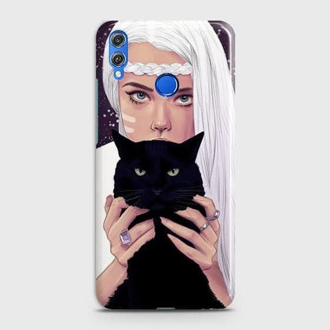 Trendy Wild Black Cat Case For Huawei P smart 2019