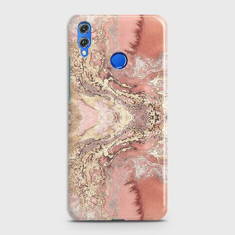 Trendy Chic Rose Gold Marble 3D Case For Huawei P smart 2019