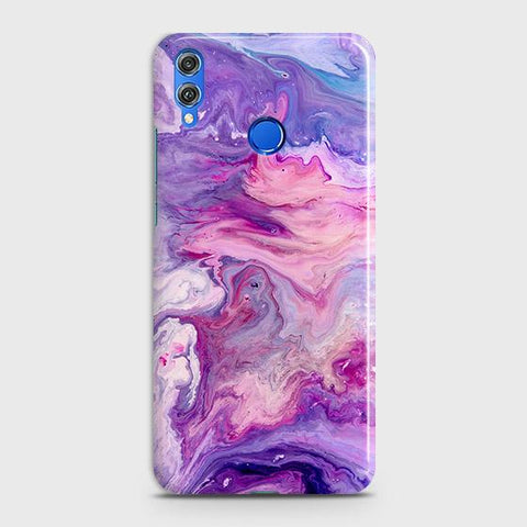 3D Chic Blue Liquid Marble Case For Huawei P smart 2019
