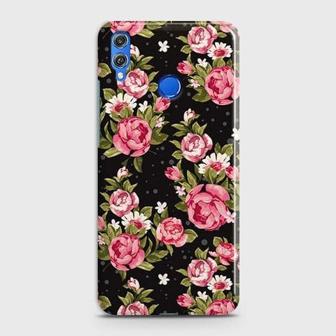 Trendy Pink Rose Vintage Flowers Case For Huawei P smart 2019