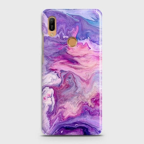 3D Chic Blue Liquid Marble Case For Huawei Y6 2019