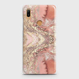 Trendy Chic Rose Gold Marble 3D Case For Huawei Y6 Prime 2019