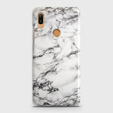 Trendy White Floor Marble Case For Huawei Y6 Prime 2019