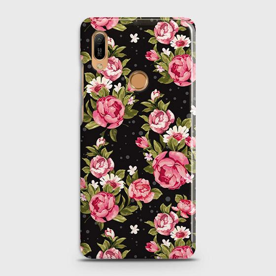 Trendy Pink Rose Vintage Flowers Case For Huawei Y6 Prime 2019