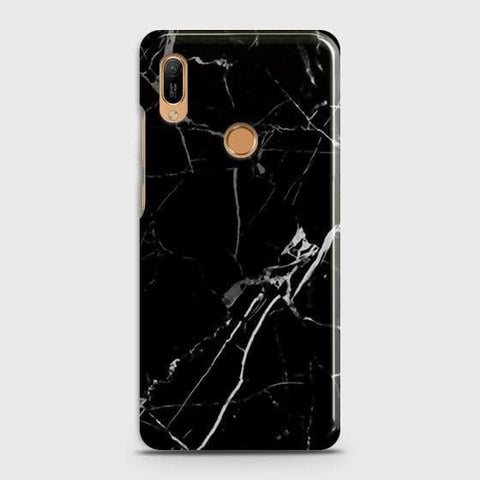 Black Modern Classic Marble Case For Huawei Y6 Prime 2019