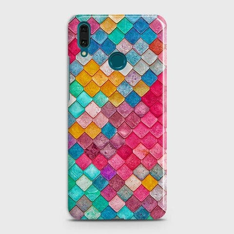 Chic Colorful Mermaid 3D Case For Huawei Y7 2019