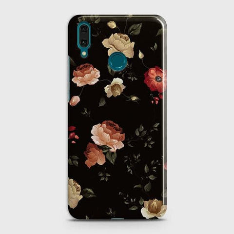 Dark Rose Vintage Flowers 3D Print Case For Huawei Y7 2019