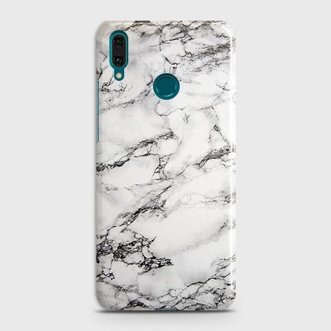 Trendy White Floor Marble Case For Huawei Y7 2019