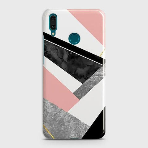 Geometric Luxe Marble Trendy Case For Huawei Y7 2019
