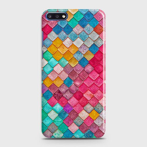 Chic Colorful Mermaid 3D Case For Huawei Y7 Pro 2018