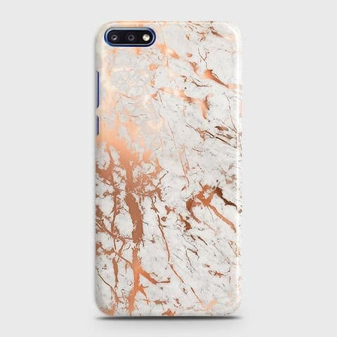 3D Print in Chic Rose Gold Chrome Style Case For Huawei Y7 Pro 2018