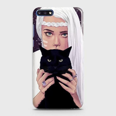 Trendy Wild Black Cat Case For Huawei Y7 Pro 2018