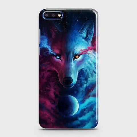 Infinity Wolf 3D Trendy Case For Huawei Y7 Pro 2018