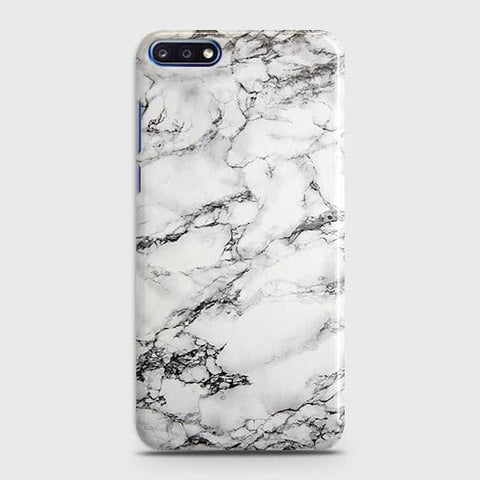 Trendy White Floor Marble Case For Huawei Y7 Pro 2018